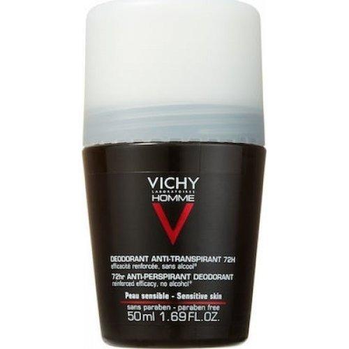 VICHY Αποσμητικό Roll-on Για Άντρες Homme Deodorant Anti-Transpirant 72h 50ml