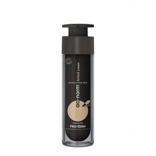 FREZYDERM AC-NORM TINTED CREAM Επικαλυπτική κρέμα προσώπου με χρώμα για ατέλειες 50ml