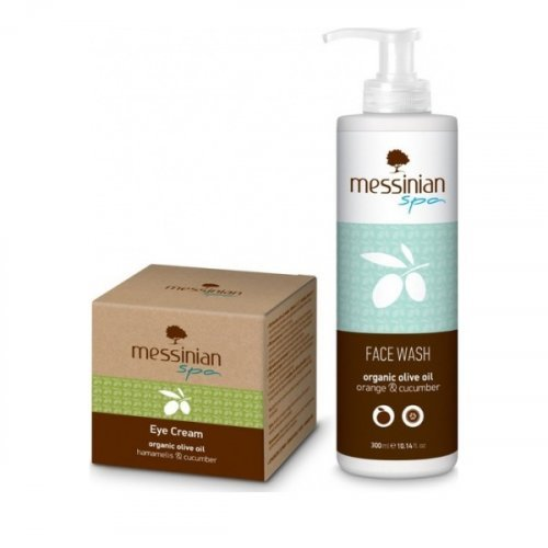 Messinian Spa Promo Eye Cream Hamamelis-Cucumber 50ml & ΔΩΡΟ Face Wash Cucumber-Orange 300ml