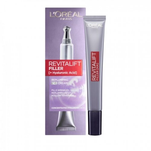 L'oreal Paris Revitalift Filler Eye Cream Αντιγηραντική Κρέμα Ματιών, 15ml