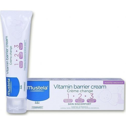 MUSTELA Κρέμα για την Αλλαγή της Πάνας Bébé Vitamin Barrier Cream 50ml