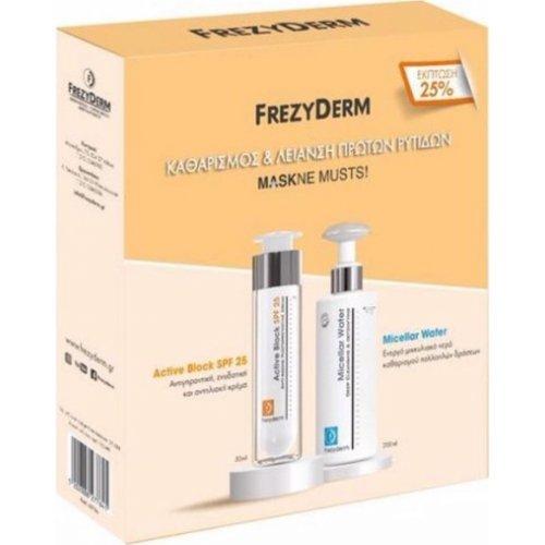 Frezyderm Maskne Musts Active Block SPF20 50ml και Micellar Water 200ml
