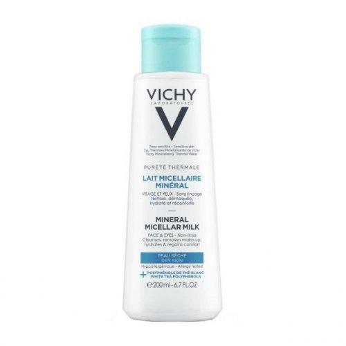 VICHY Καθαριστικό Γαλάκτωμα για Ξηρή Επιδερμίδα Purete Thermale Mineral Micellar Milk 200ml