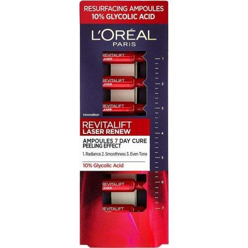 L' Oreal Paris Revitalift Laser Renew, Αμπούλες Με Γλυκολικό Οξύ Για Λεία, Λαμπερή & Σφριγηλή Επιδερμίδα σε 7 ημέρες, 7x1ml