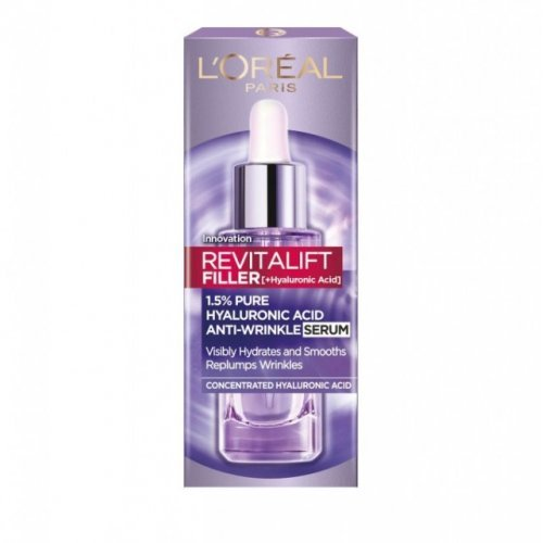 L' Oreal Paris Revitalift Filler (+ Υαλουρονικό Οξύ) Αντιρυτιδικός Ορός με Καθαρό Υαλουρονικό Οξύ, 30ml