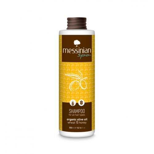 Messinian Spa Σαμπουάν Για Όλους Τους Τύπους Μαλλιών Σιτάρι - Μέλι 300ml