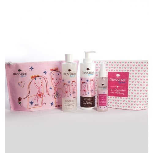Messinian Spa SET Daughter & Mommy Aφρόλουτρο 300ml, Γαλάκτωμα 300ml, Hair & Body Mist 100ml & Νεσεσέρ