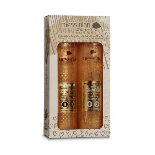 Messinian Spa Βασιλικός Πολτός και Ελίχρυσος Shower Gel 300ml and Shampoo 300ml