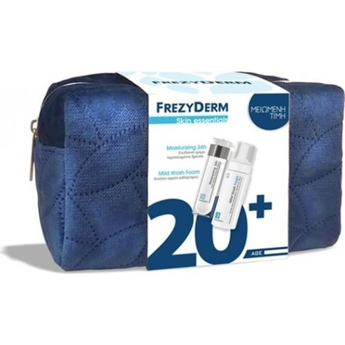 FREZYDERM Σετ Skin Essentials 20+, Moisturizing 24h Cream, Ενυδατική Κρέμα - 50ml & Mild Wash Foam, Αφρός Καθαρισμού - 150ml