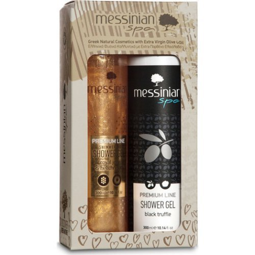 Messinian Spa Promo Premium Line Shimmering Shower Gel Βασιλικός Πολτός & Ελίχρυσος 300ml & Shower Gel Black Truffle 300ml