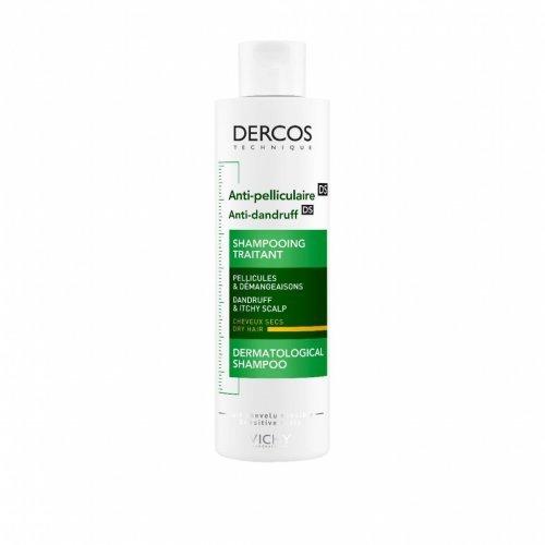 Vichy DERCOS Αντιπυτιριδικό σαμπουάν για Ξηρά μαλλιά, 200ml