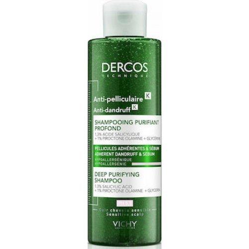 Vichy Dercos Σαμπουάν Κατά της Πιτυρίδας Anti-Dandruff Deep Purifying Shampoo 250ml