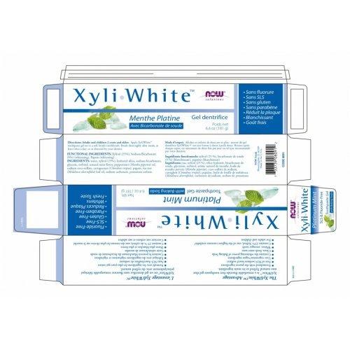 NOW XYLIWHITE™ PLATINUM MINT TOOTHPASTE GEL WITH BAKING SODA χωρίς Φθόριο για Υγιή Γερά Δόντια 181ml