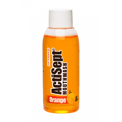Intermed Actisept Mouthwash Orange Φθοριούχο Στοματικό Διάλυμα Αρωμά Πορτοκάλι 60ml
