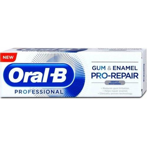Oral-B Gum and Enamel Pro Repair Gentle Whitening Λευκαντική Οδοντόκρεμα κατά των Προβλημάτων των Ούλων 75ml