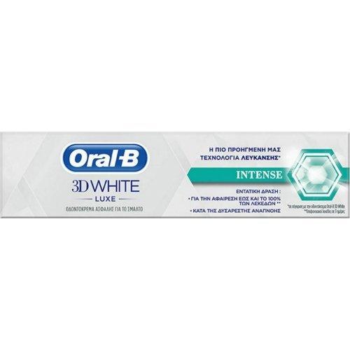 Oral-B 3D White Luxe Intense Toothpaste Οδοντόκρεμα με Εντατική Δράση κατά της Κακοσμίας 75ml