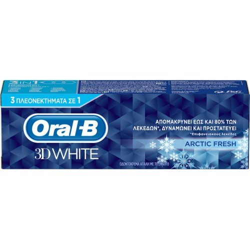 Oral-B 3D White Arctic Fresh Οδοντόκρεμα για την Απομάκρυνση των Λεκέδων 75ml