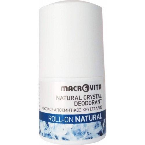 Macrovita Natural Φυσικός Αποσμητικός Κρύσταλλος Roll-On 50ml